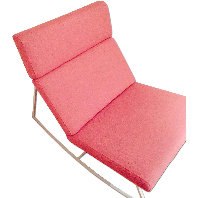 ABC Carpet & Home Salmon/Pink Rocking Chair - image-0