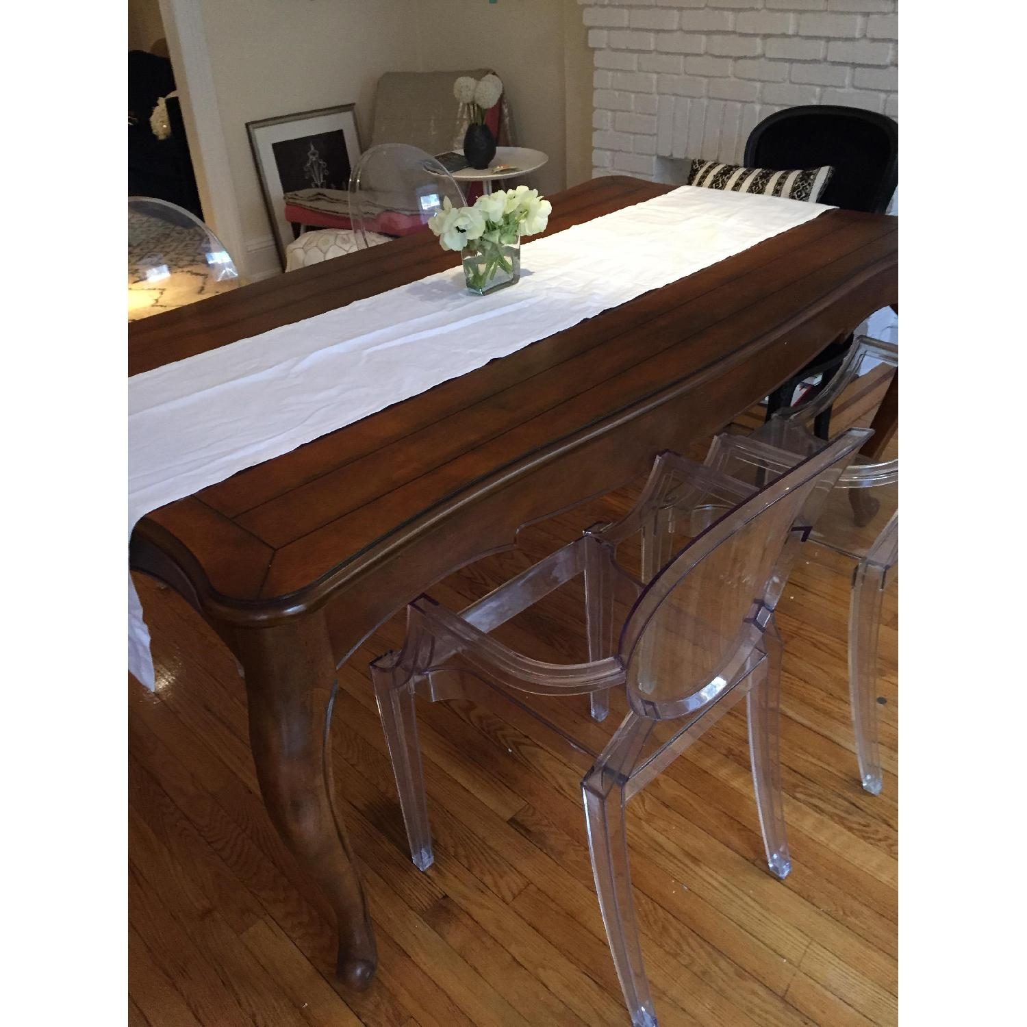 French Wooden Farm Table - image-9
