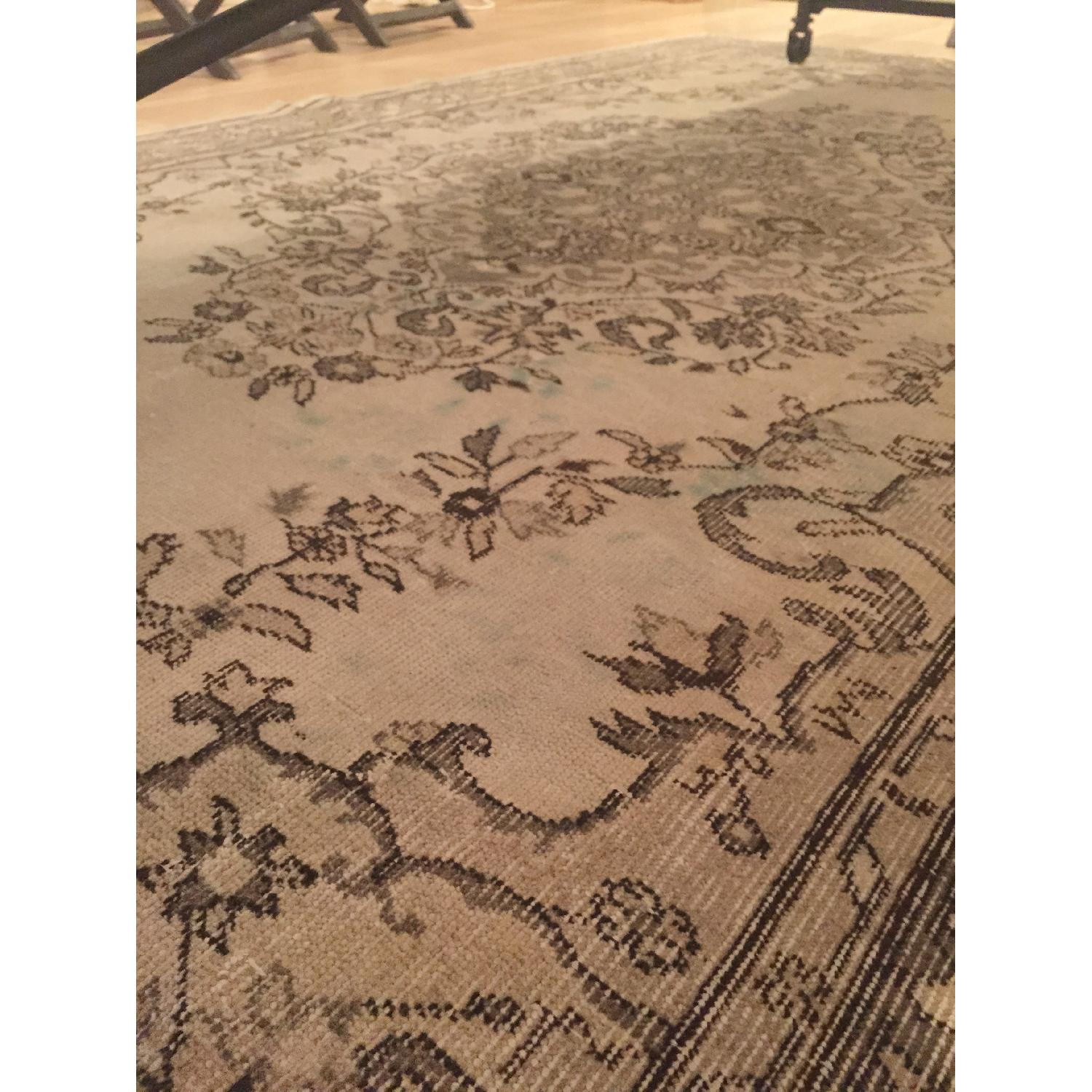 Vintage Turkish Hand-Woven Overdyed  Rug in Grey - image-4