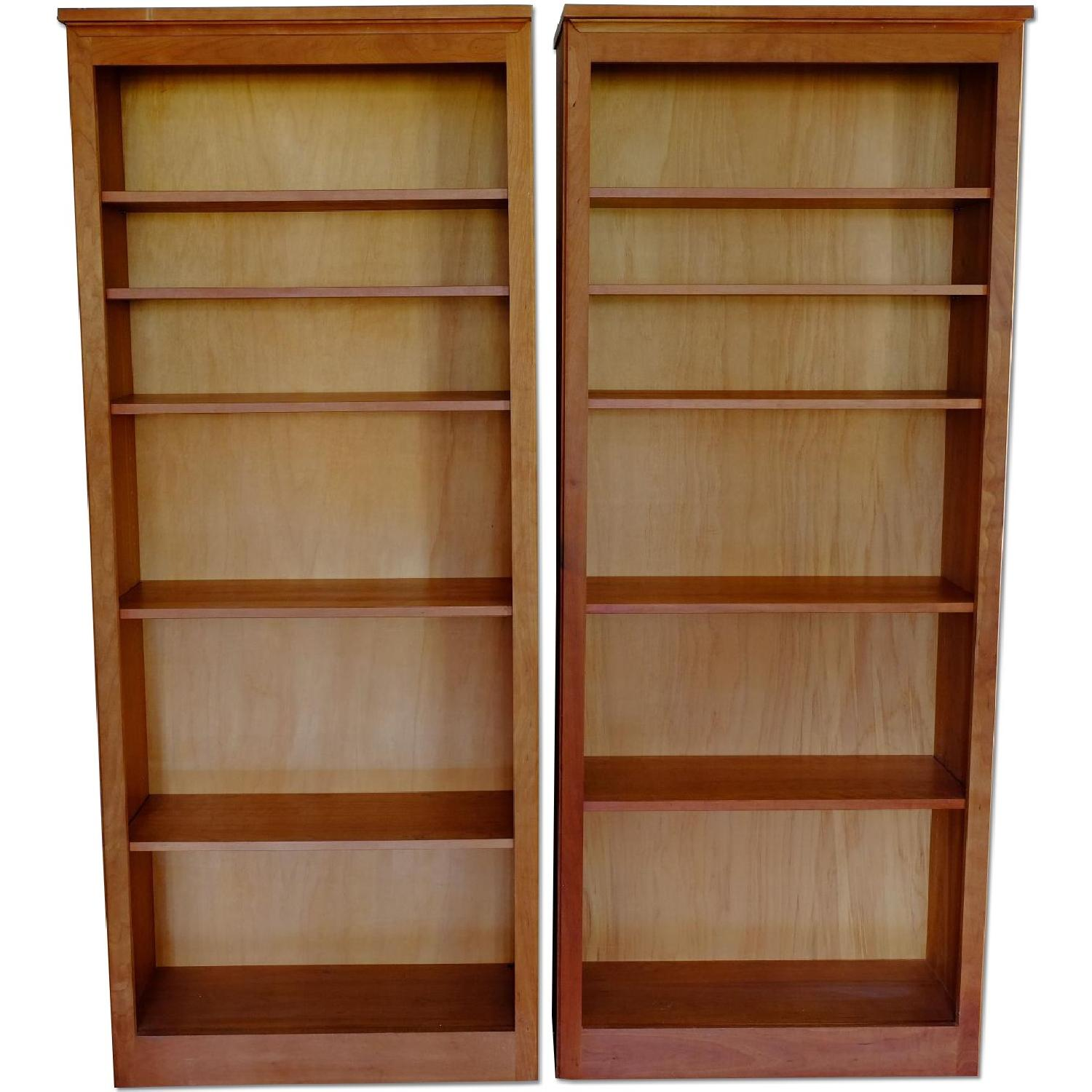 Crate & Barrel Matching Bookcase Set - image-0