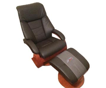 Mac Motion Oslo 58 Leather Ergonomic Recliner & Ottoman