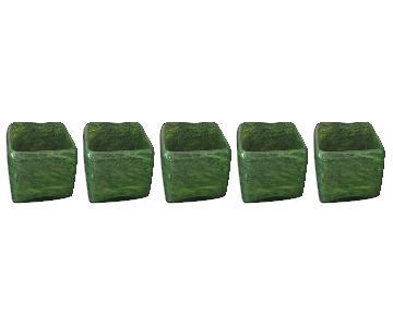 Crate & Barrel Glass Votives - Set of 5