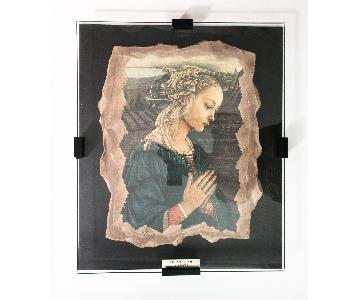 Filippo Lippi La Madonna Fresco Reproduction Fragment