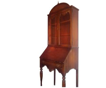 Vintage Secretary Desk w/ Shelves