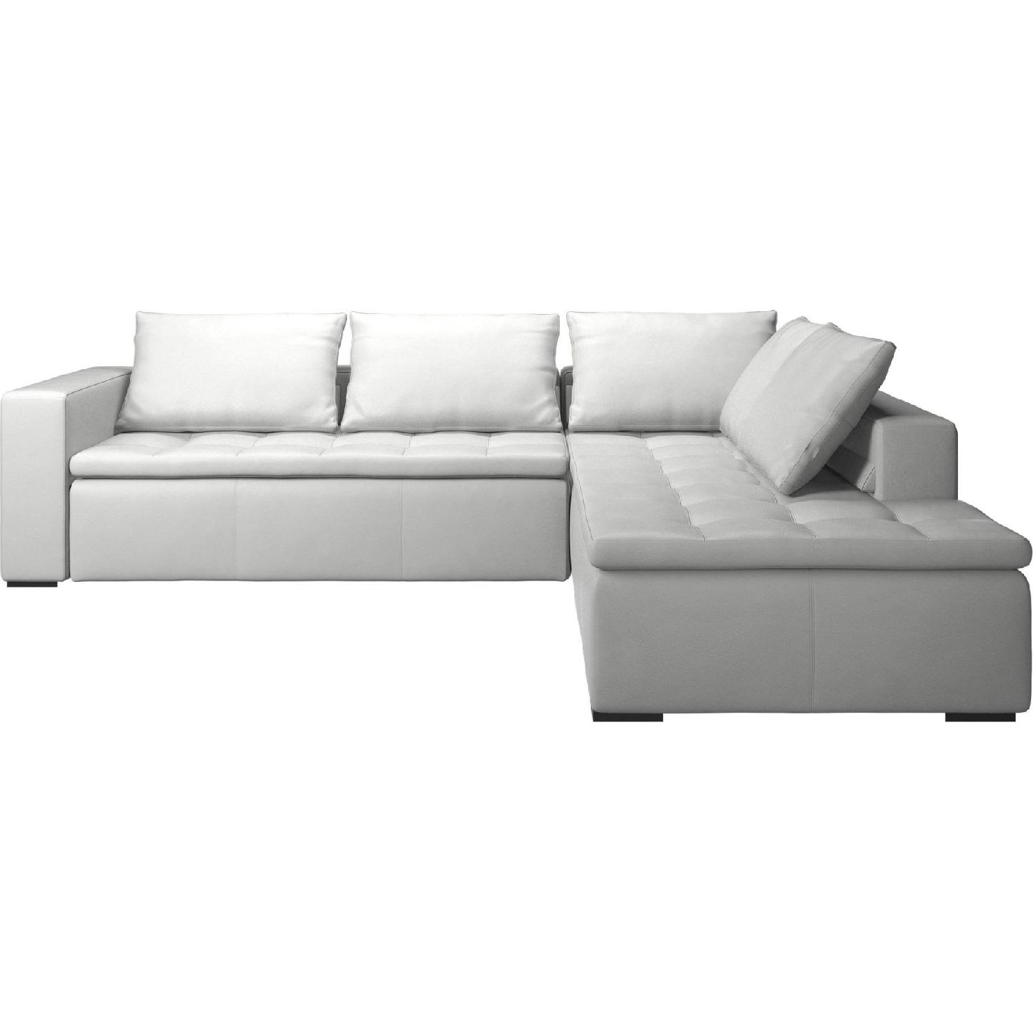 BoConcept Leather Mezzo L Shape Sectional Sofa AptDeco