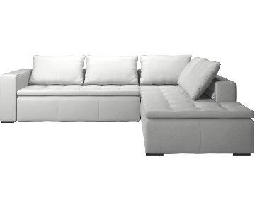 BoConcept Leather Mezzo L Shape Sectional Sofa