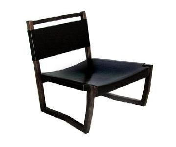 Karkula Zuckerman/Lawton Walnut Leather Chair