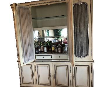 F&W Woodwork Custom Vintage China Cabinet