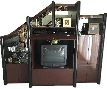 Brown Lacquer Wall Unit