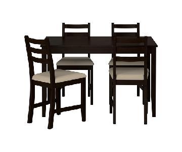 Ikea Bjursta Table w/ 4 Lerhamn Chairs