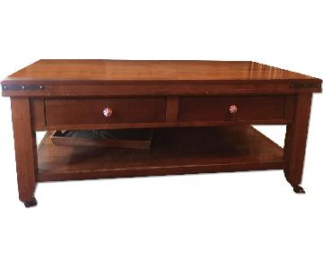 Pottery Barn Coffee Table w/ 2 Drawers