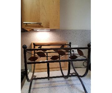 Wrought Iron Fireplace Log Holder