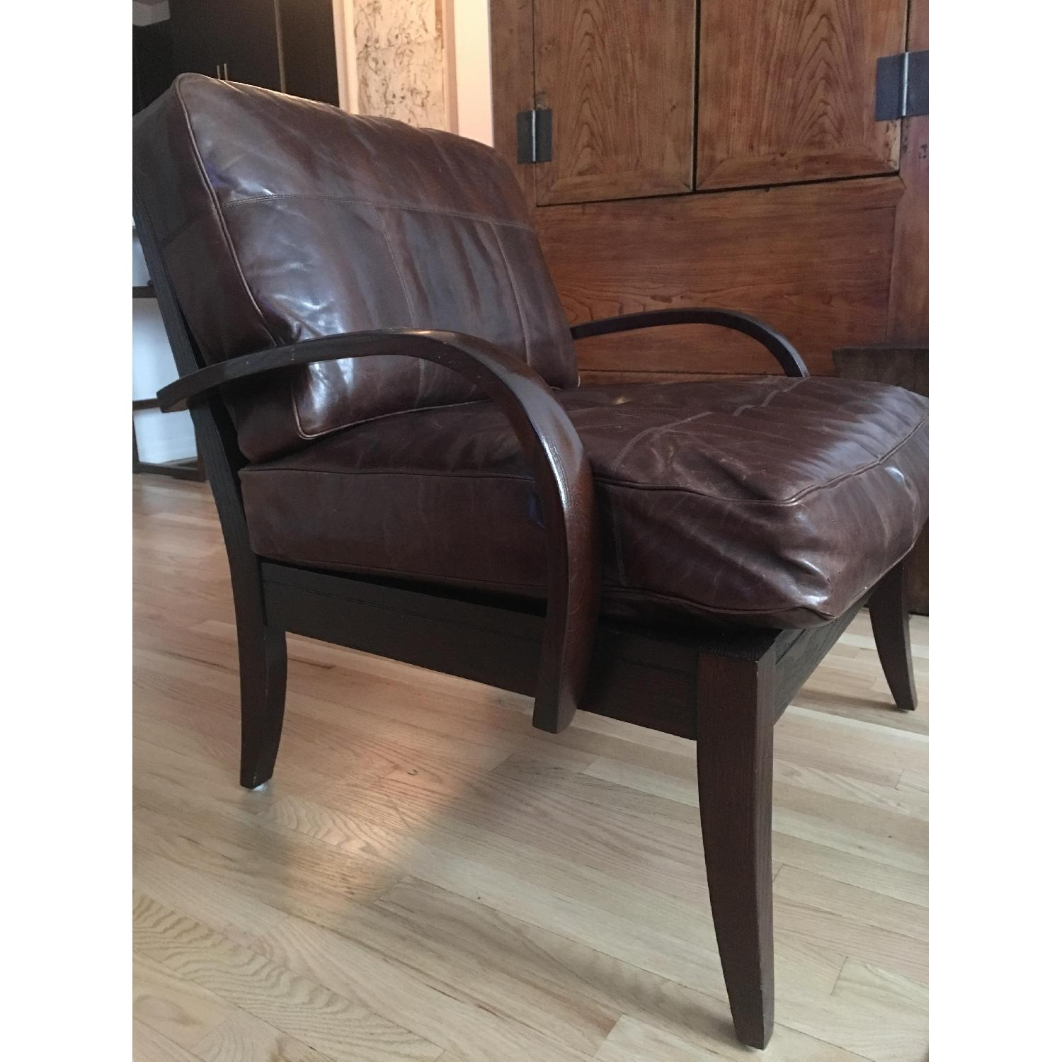 Mulholland Brothers Leather Accent Chairs AptDeco