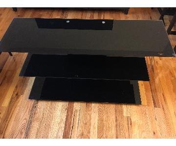 Bell'O Black Tempered Glass TV Stand