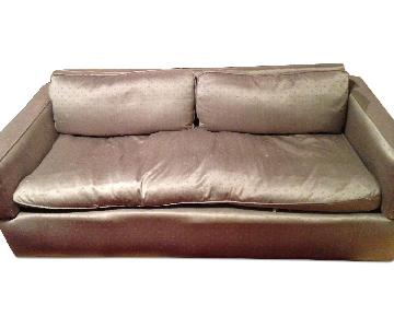 Down Filled Sleeper Sofa w/ French Provence Upholstery