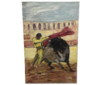 Bullfighter Oil Painting