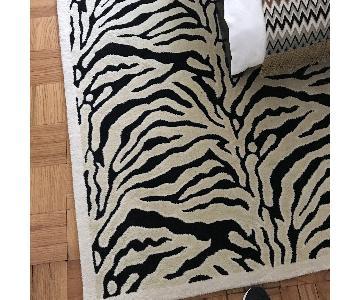 Wool Zebra Area Rug