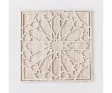 West Elm White Washed Wood Wall Art (2 pairs available)