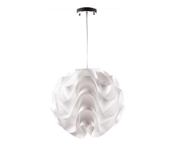 Control Brand Furniture Wave White One Light Pendant