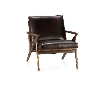 Crate & Barrel Cavett Leather Chair