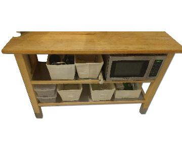 Ikea Stenstorp Butcher Block Countertop Kitchen Island