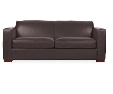 Room & Board Ian Leather Sleeper Sofa