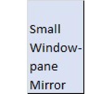 Original Craftsmanship Antique Window Pane Mirror