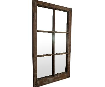 Original Craftsmanship Antique Window Pane Mirror