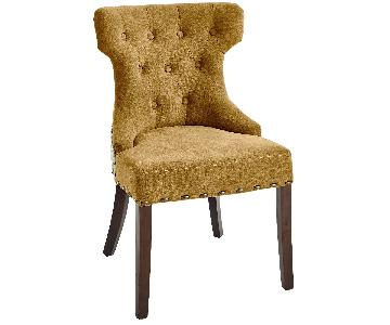 Pier 1 Hourglass Amber Accent Chairs