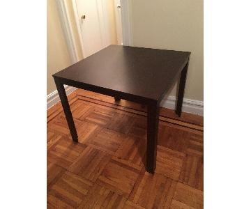 Espresso Wood Dining Table