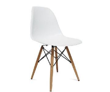 Baxton Studio Modern White Plastic Dining Chairs