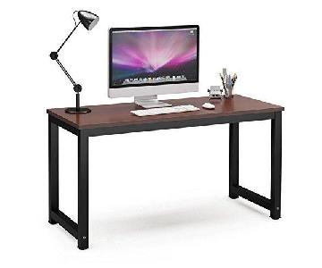 Tribesigns Solid Wood Rustic Computer Desk