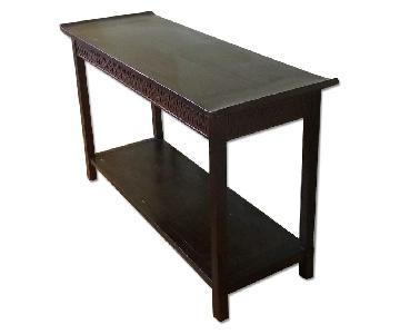 Pottery Barn Indonesian Side Table