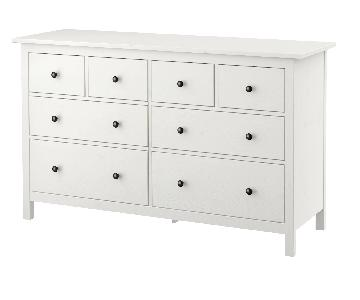 Ikea Hemnes White 8-Drawer Dresser