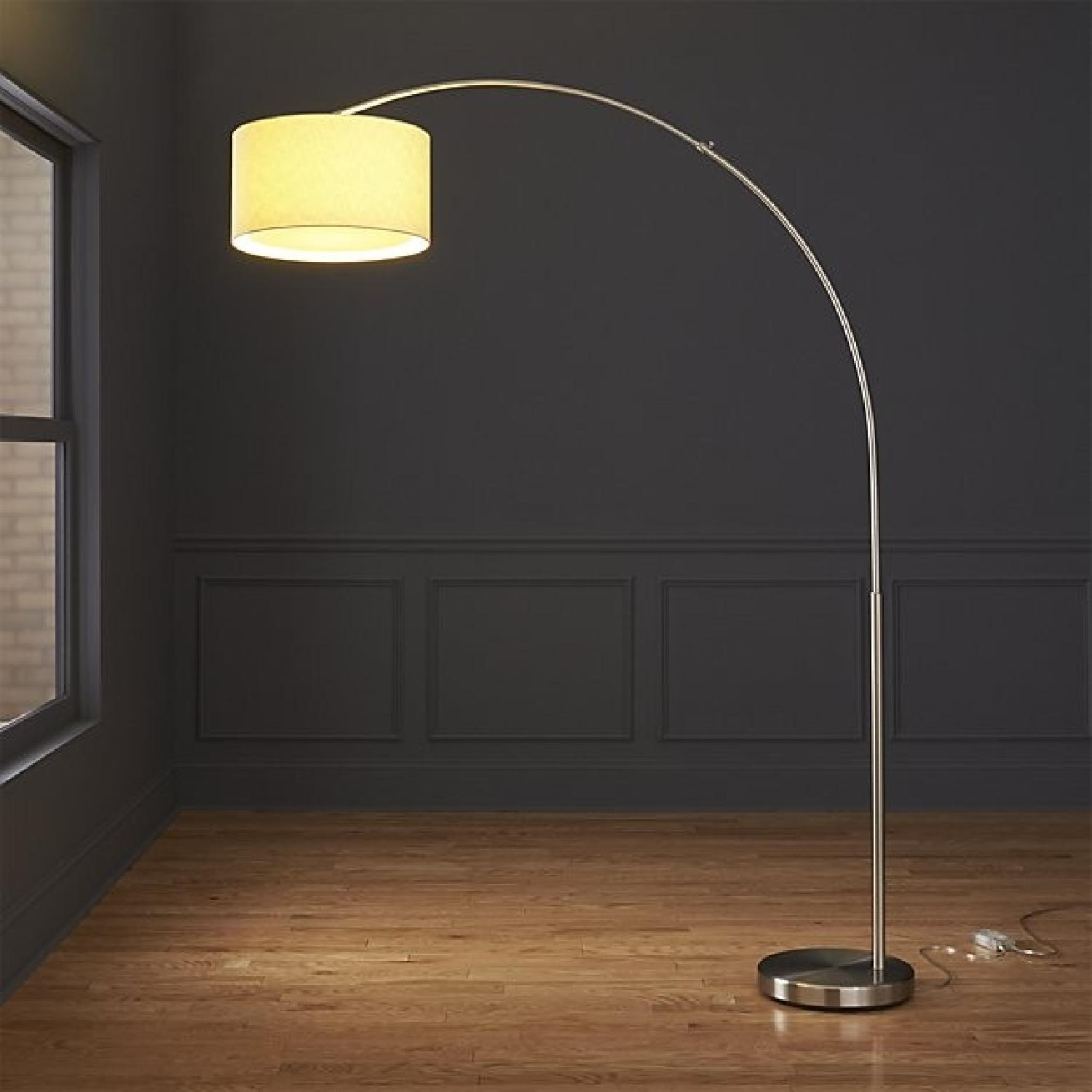 CB2 Big Dipper Arc Brushed Nickel Floor Lamp - AptDeco