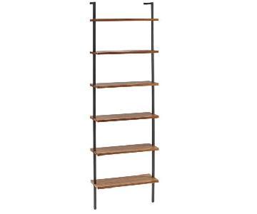 CB2 Helix Acacia Bookcases