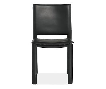 Room & Board Madrid Black Leather Dining Chair