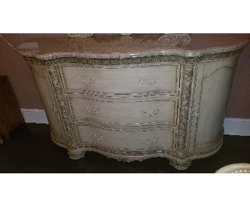 Mcferran Home Italian Granite Top Dresser w/ Mirror