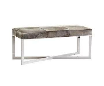 Wisteria Cowhide Bench