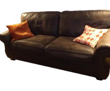 Ashley's Leather 3 Seater Sofa