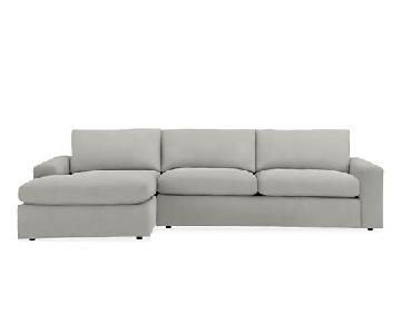 Room & Board Harding Doss Grey Sectional w/ Left Arm Chaise