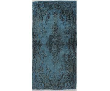 Vintage Over-Dyed Kirman Rug -