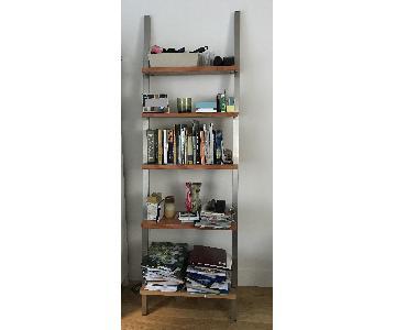 Wood & Brushed Metal Bookshelf