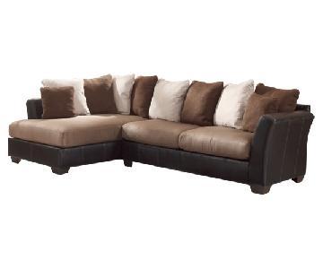 Ashley's Masoli Two-Toned Sectional Sofa