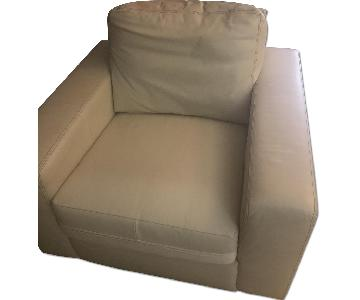 Ikea Beige Leather Chairs
