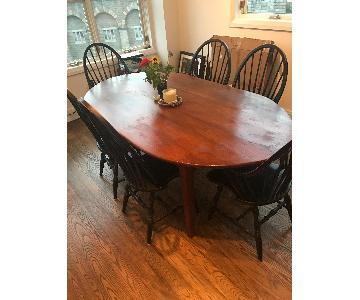 Solid Wood Shaker Style Oval Dining Table