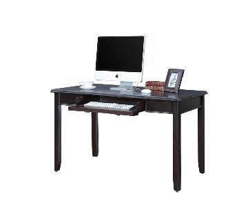 Writing Desk in Dark Brown Finish w/ a Pull-Out Drawer