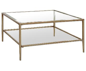 Birch Lane Nash Collection Glass Square Coffee Table