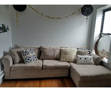 May Furniture MicroSuede Sectional w/ Chaise