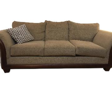 Natural & Wood 3 Seater Couch